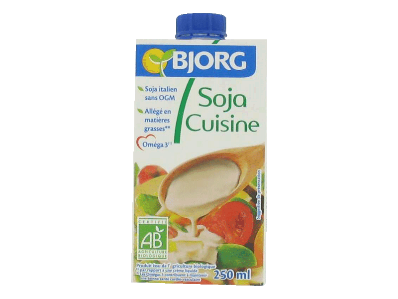 "bjorg soy ""cuisine"" cooking cream (250 ml) - bamboo vegan shop athens"