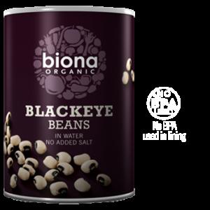 Biona Organic Canned Beans - Blackeye - 400g