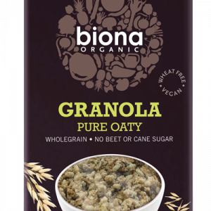 Biona Organic Granola - Pure Oaty -No added sugar - 375g