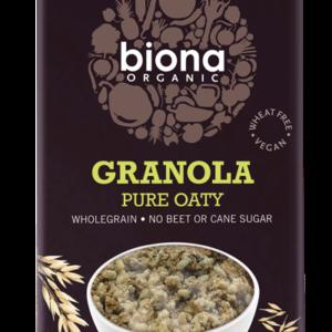 Biona Organic Granola - Pure Oaty -No added sugar - 375g