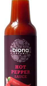 Biona Organic Sauce -Hot Pepper (Bio Tobasco) - 140ml